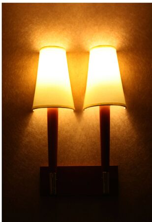 Corridor lamps in a hotel