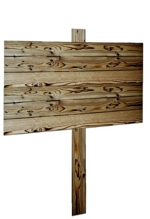 Wood fence post sign