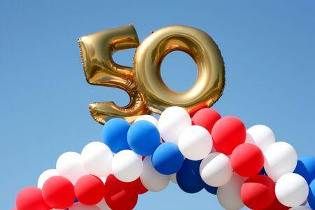 Balloon decorations celebrating 50 years photo
