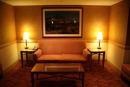 Hotel room or hallway setting photo