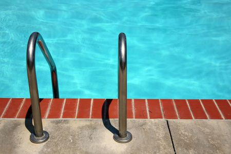 either: Ladder to either enter or exit the pool