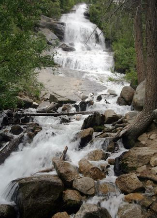 Waterfall and swift moving stream