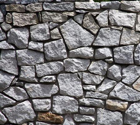 Man-made rock wall