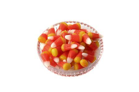 candy corn: Colorful candy corn in a cute dish
