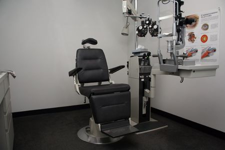 Eye exam room where patients wait for the Doctor