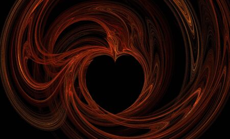 Abstract black background with beautiful and colorful heart pattern photo