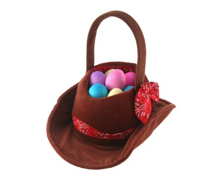 Cowboy hat made into an Easter egg basket Stock Photo - 857521
