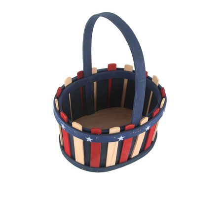 Fourth of July or New Years Eve patriotic basket photo