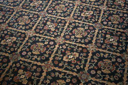 distinctive: Commercial carpet with a distinctive floral pattern