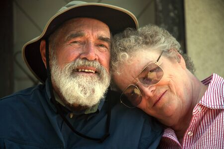 Older couple sitting on the porch Stock Photo - 1565362