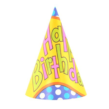 Colorful party hat with decorative happy birthday Stock Photo - 1884815