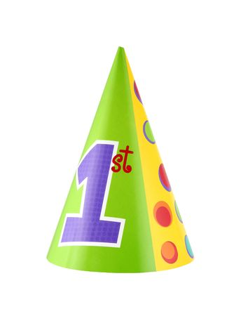 1st birthday party hat isolated on white background Stock fotó