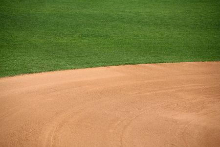 infield: American baseball or softball in-field background