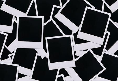 blanks: Old polaroid film blanks spread across a surface
