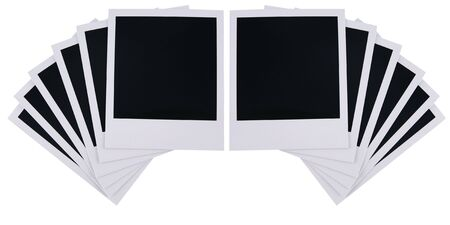 blanks: Old film blanks isolated on white background