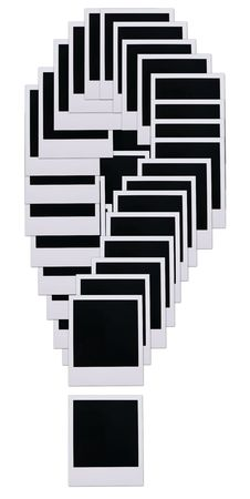 Old photo film blanks in the shape of an exclamation point Stock Photo - 2587373