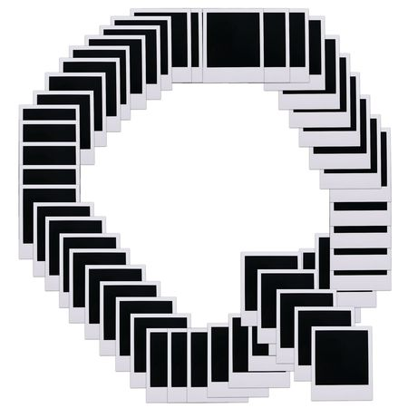 Old photo film blanks in the shape of the letter Q