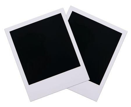 Two old polaroid film blanks isolated on white background Stok Fotoğraf - 2665176