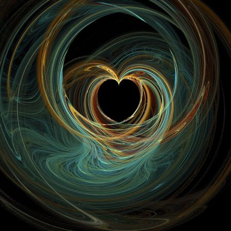 Unique and colorful abstract heart computer generated background photo