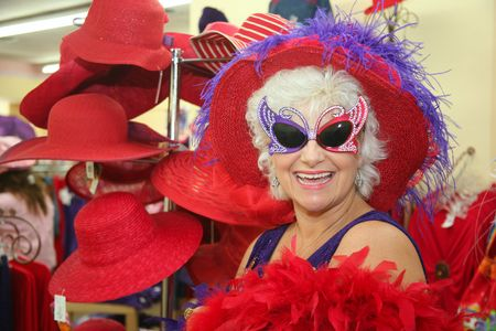 Silly senior society woman wearing  glasses Stok Fotoğraf - 3564357