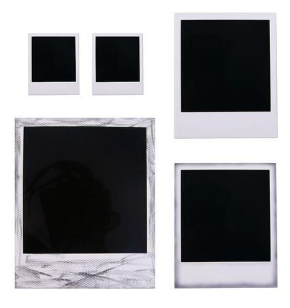 blanks: Isolated polaroid film blanks on white background Stock Photo