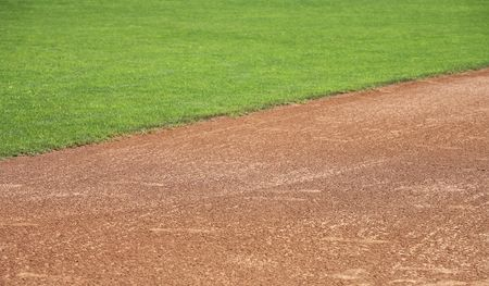 Softball or baseball infield natural background photo