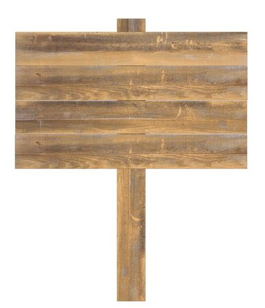 old sign: Natural wooden sign isolated on white background Stock Photo