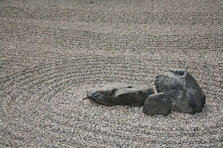 Rocce con piccole pietre o ghiaia sabbia sfondo Archivio Fotografico - 4858392