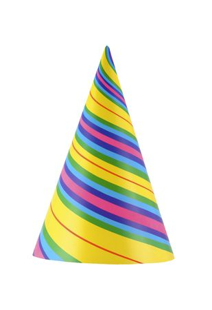bash: Colorful and vibrant part hat isolated on white