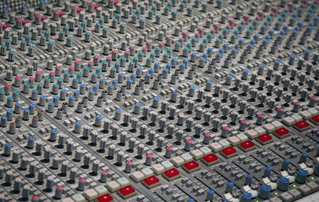 Sound studio mixer makes an interesting background