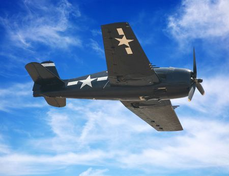 airforce: American World War II fighter plane or airplane Stock Photo
