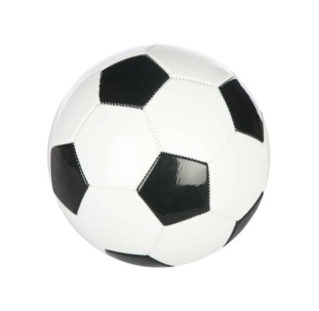 Isolated soccer ball on plain white background