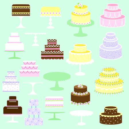 fruit stand: cakes clipart Illustration