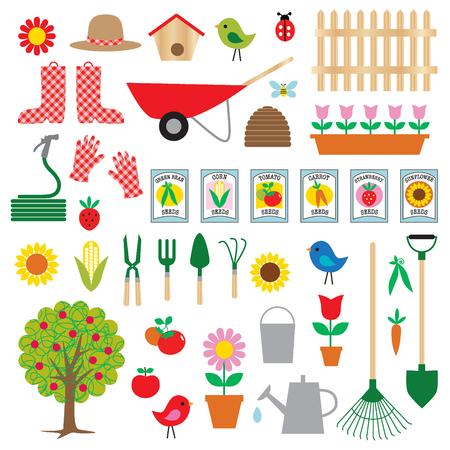 gardening clipart Stock Illustratie