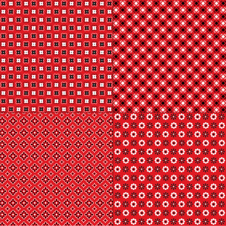 bandana: red bandana patterns
