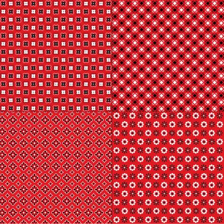 red bandana patterns