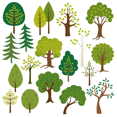 hand tree: trees clipart