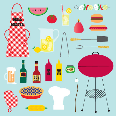 blueberry pie: barbeque clipart Illustration