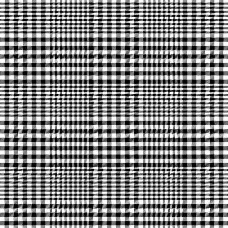 黒と白グレン チェック柄パターン