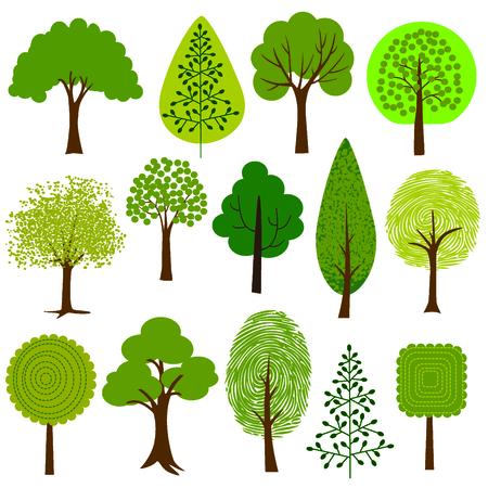 arbol: clipart árboles Vectores