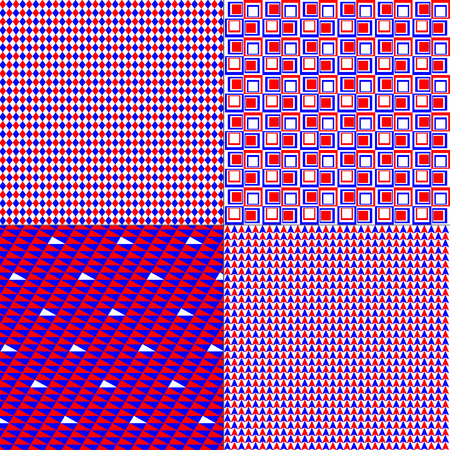 red white blue: red, white, blue patterns Illustration