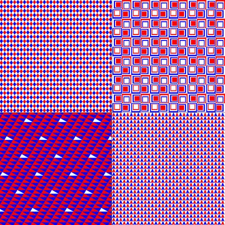 red, white, blue patterns 向量圖像