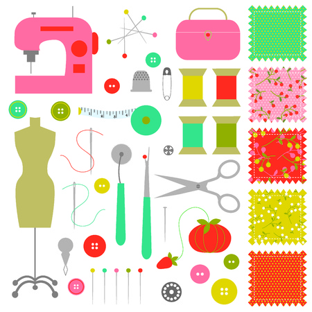 needle cushion: sewing clipart