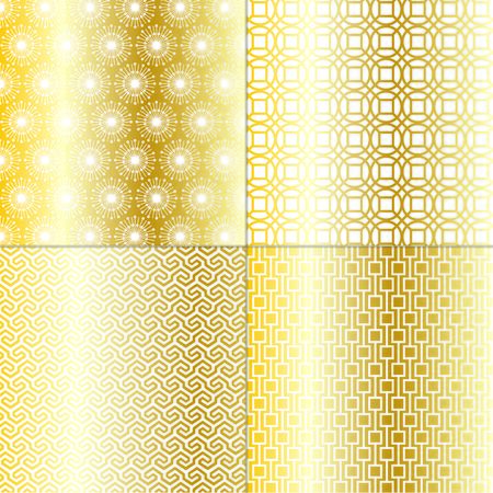 islamic pattern: gold geometric patterns