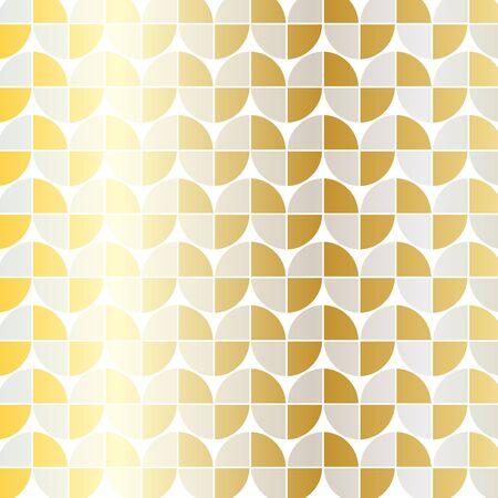シルバー ゴールド mod 幾何学模様