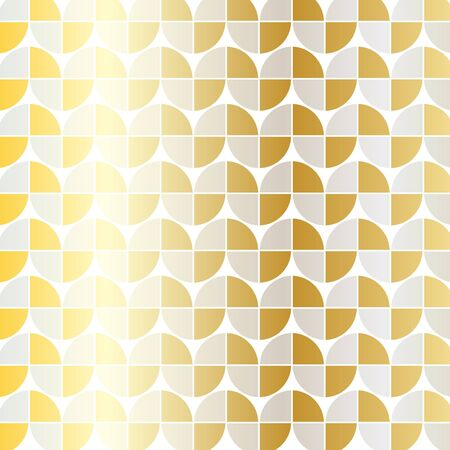 silver gold mod geometric pattern Illustration