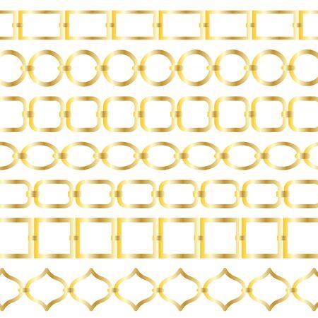 linkage: gold chains Illustration