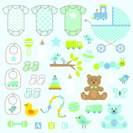 baby toy: baby boy clipart