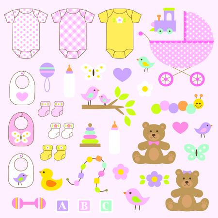 baby girl: baby girl clipart Illustration
