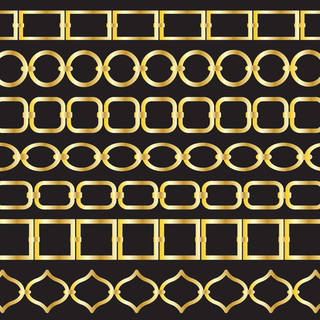 Los patrones de la cadena del oro Foto de archivo - 36005435
